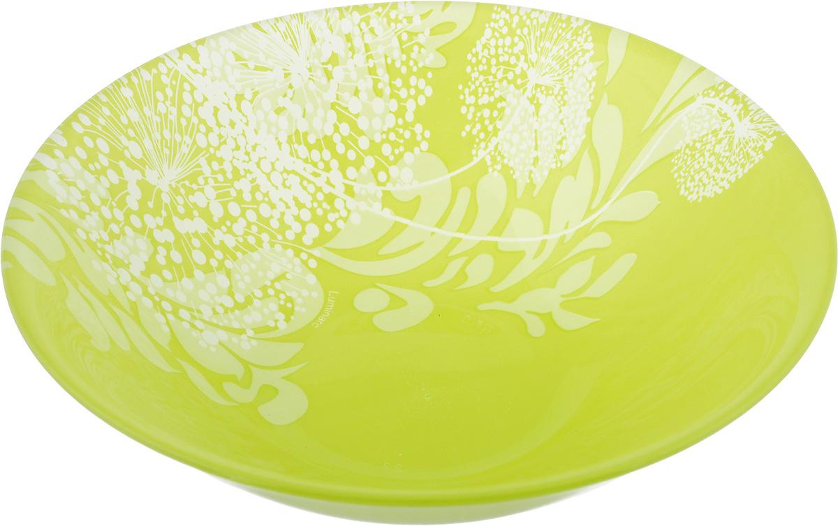 Салатник Luminarc Pium Green, диаметр 17 смJ7895Салатник Luminarc Pium Green выполнен из высококачественного стекла. Салатник декорированный воздушными цветами, украсит ваш стол и создаст весеннее настроение за трапезой.. Он прекрасно впишется в интерьер вашей кухни и станет достойным дополнением к кухонному инвентарю.В салатнике Luminarc Pium Green ваши любимые салаты будут смотреться по особенному свежо и аппетитно.Можно мыть в посудомоечной машине и использовать в СВЧ.Диаметр салатника (по верхнему краю): 17 см.Высота стенки салатника: 5 см.