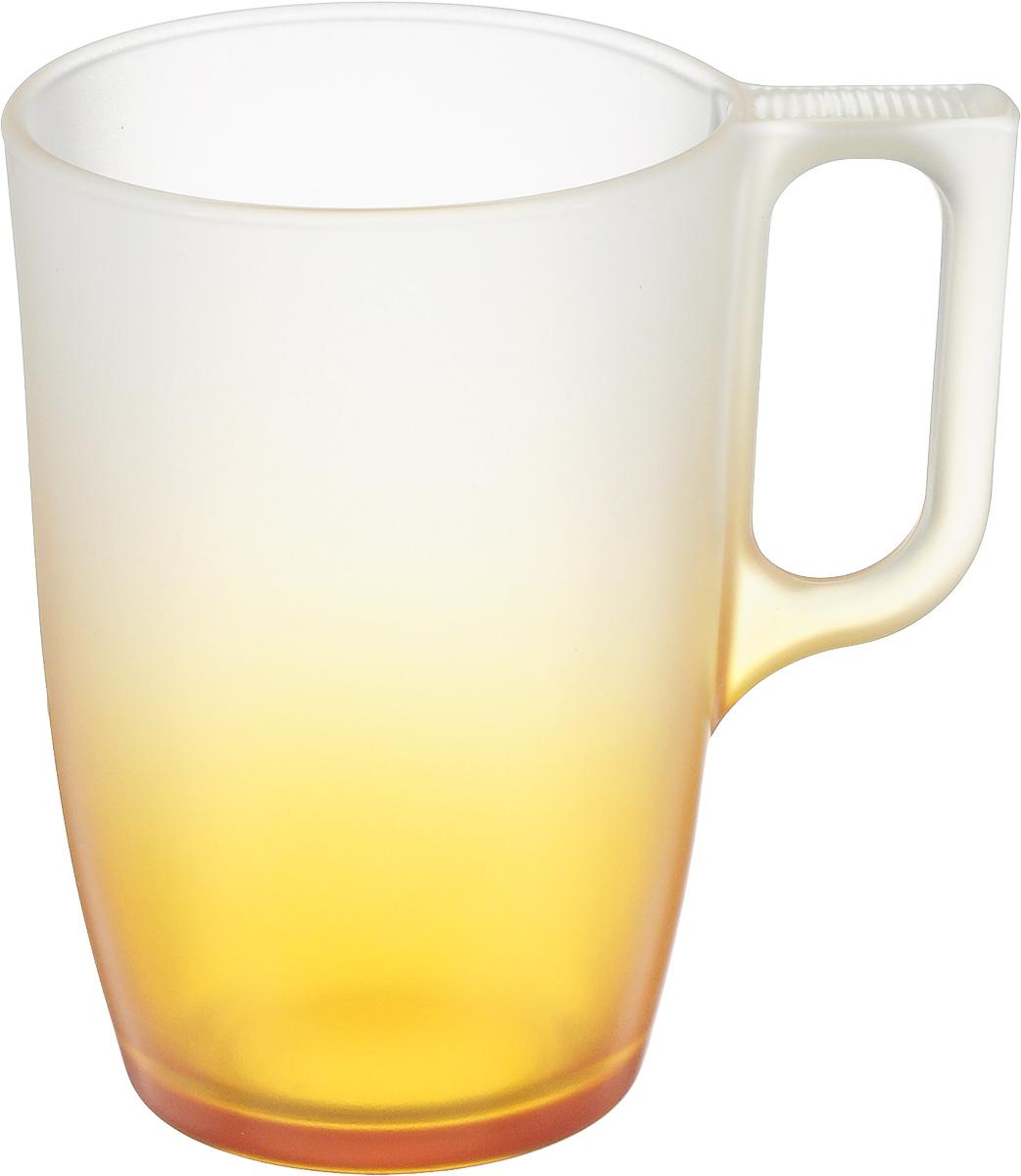 Кружка Luminarc Maritsa Orange, 320 млJ7690Кружка Luminarc Maritsa Orange изготовлена из упрочненного стекла. Такая кружка прекрасно подойдет для горячих и холодных напитков. Она дополнит коллекцию вашей кухонной посуды и будет служить долгие годы. Можно использовать в микроволновой печи и мыть в посудомоечной машине.Диаметр кружки (по верхнему краю): 7,7 см. Высота стенки кружки: 11,2 см.Бренд Luminarc - это один из лидеров мирового рынка по производству посуды и товаров для дома. В основе процесса изготовления лежит высококачественное сырье, а также строгий контроль качества.