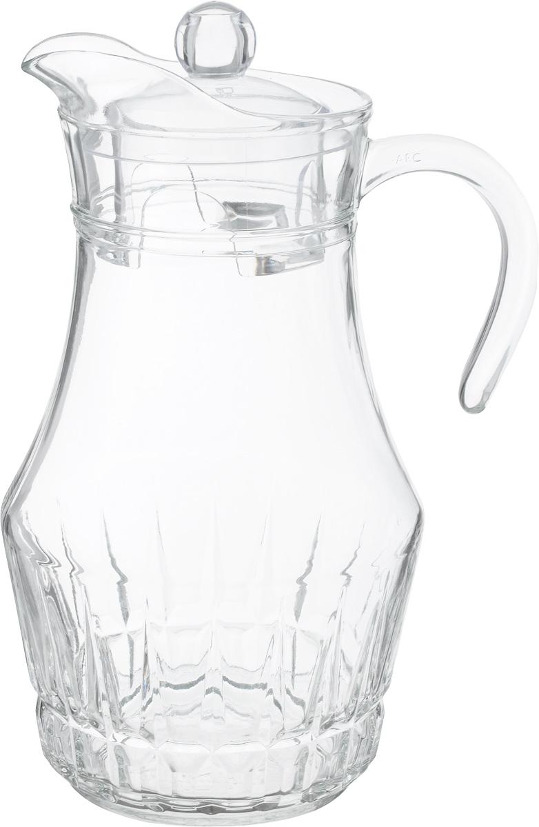 Кувшин Luminarc Victoria/Виктория, с крышкой, 1,8 лM1944Кувшин Luminarc Arc, выполненный из высококачественного стекла, оснащен удобной ручкой. В нем будет удобно хранить и подавать на стол молоко, соки или воду. Кувшин Luminarc Arc украсит любой кухонный интерьер и станет хорошим подарком для ваших близких.Диаметр кувшина (по верхнему краю): 9,5 см.Диаметр дна: 9,5 см.Высота кувшина (с учетом крышки): 28 см.