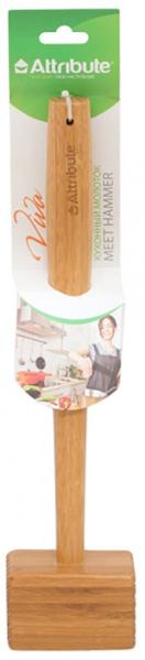 """Молоток для мяса Attribute """"Viva Bamboo"""", выполненный из бамбука, поможет вам без труда отбить мясо и приготовить его мягким, сочным и вкусным. Молоток для мяса Attribute """"Viva Bamboo"""" станет вашим незаменимым помощником на кухне, а также это практичный и необходимый подарок любой хозяйке!"""