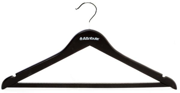 Набор вешалок универсальных Attribute Hanger Siluet Black, 45 см, 4 шт