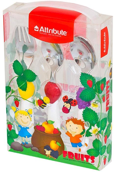 Набор детских столовых приборов Attribute Fruits, 3 предметаACF303