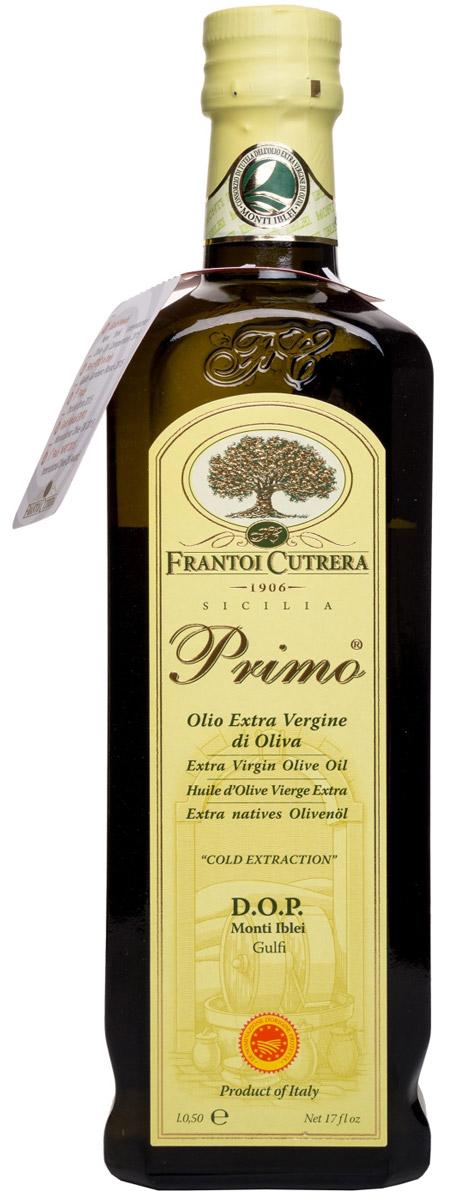 Frantoi Cutrera Оливковое масло нерафинированное Extra Vergine, 500 мл8030853001024Нерафинированное оливковое масло Примо первого холодного отжима, собранное в период с 1 по 31 октября, произведенное на основе оливок сорта тонда иблеа.Масло Примо - это оливковое масло высшего качества, полученное из оливок механическим путем.