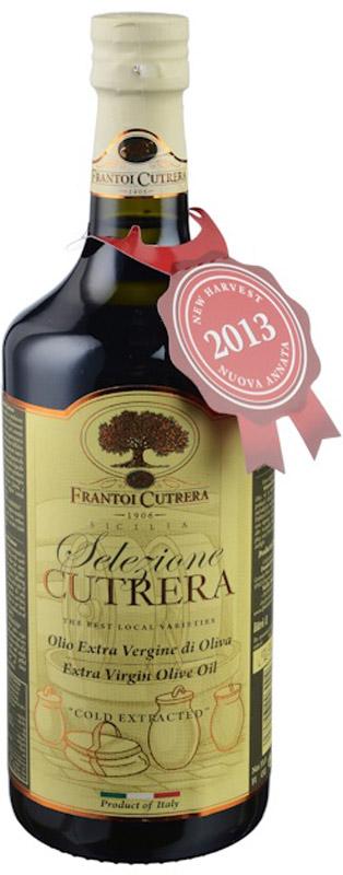 Frantoi Cutrera Оливковое масло нерафинированное Extra Vergine, 1 л terra creta extra virgin оливковое масло 1 л