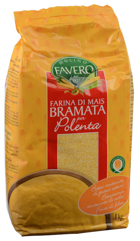 Molino Favero Полента кукурузная Брамата, 1 кг хлебная смесь пшеничный хлеб из муки грубого помола