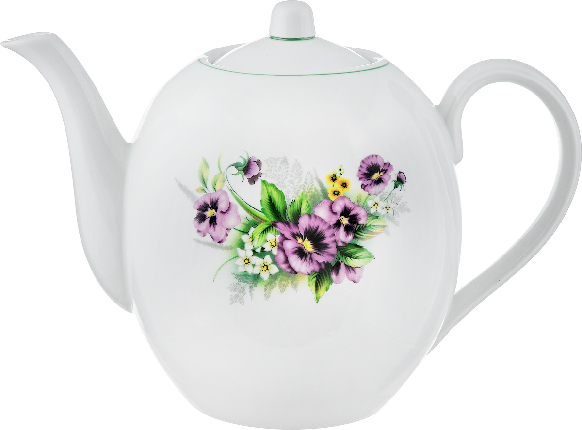 Чайник заварочный Фарфор Вербилок  Виола , 3,5 л - Посуда для приготовления