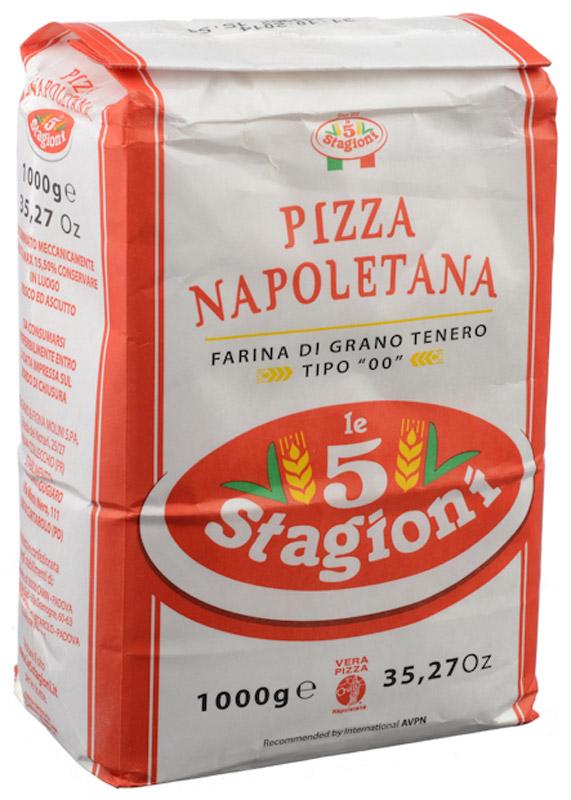 5 Stagioni Napoletana Pizza Мука для пиццы из мягких сортов пшеницы, 1 кг прибор для приготовления пиццы ariete 908 da gennaro pizza party