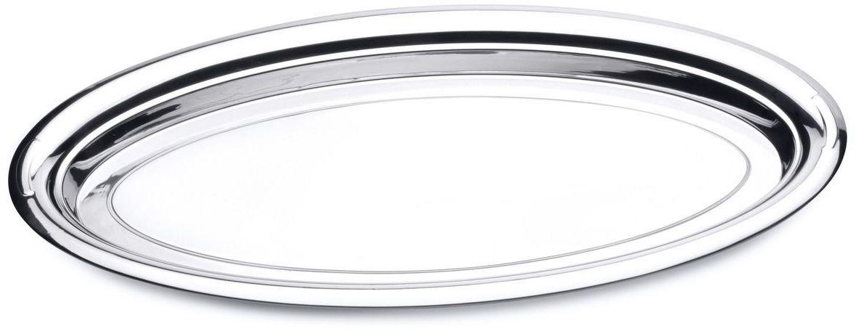 Блюдо сервировочное BergHOFF Straight, овальное, 60 х 32 см1109Блюдо сервировочное BergHOFF Straight овальной формы выполнено из стали с серебряно-никелевым покрытием. Блюдо с зеркальной поверхностью отлично подойдет для красивой сервировки различных блюд, закусок и фруктов на праздничном столе. Изящный дизайн придется по вкусу и ценителям классики, и тем, кто предпочитает утонченность и изысканность.