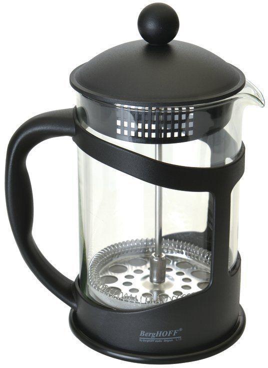 Френч-пресс BergHOFF Studio, цвет: черный, 800 мл1106834Френч-прессBergHOFF Studio выполнен из высококачественного термостойкого стекла, нержавеющей стали и полипропилена, легко моется, в том числе в посудомоечной машине, позволит вам быстро и без усилий приготовить свежий ароматный кофе или чай. Объем: 800 мл.