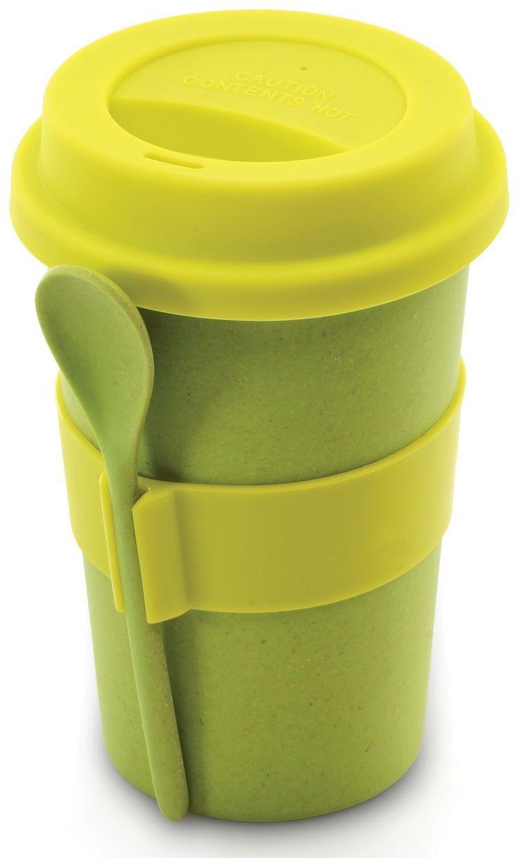 Кружка кофейная BergHOFF Cook&Co, с ложкой, цвет: салатовый, 500 мл2800055