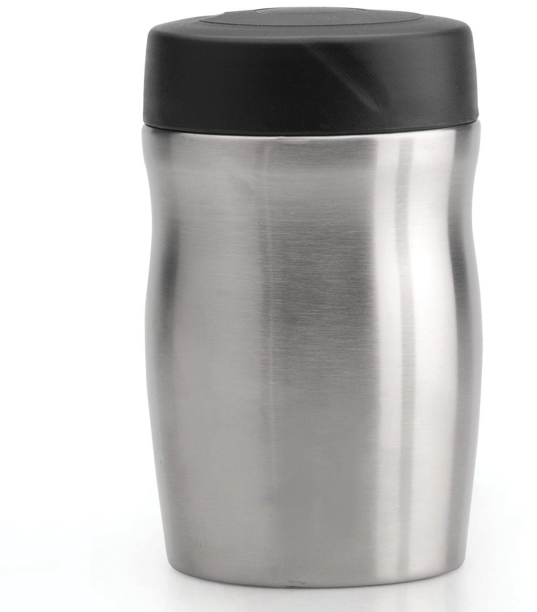 Кухонный термос BergHOFF Cook&Co, 350 мл2801703Кухонный термос BergHOFF Cook&Co очень компактный, но в то же время очень вместительный. Широкое горлышко позволяет легко его наполнять и так же легко есть прямо из него. В таком термосе ваша еда на долгое время останется горячей и ароматной, за счет того, что выполнен он из нержавеющей стали, которая надолго сохраняет тепло. Полированная поверхность обладает защитными свойствами и ее очень легко мыть. Термос будет для вас идеальным выбором для длительных путешествий или просто прогулок.