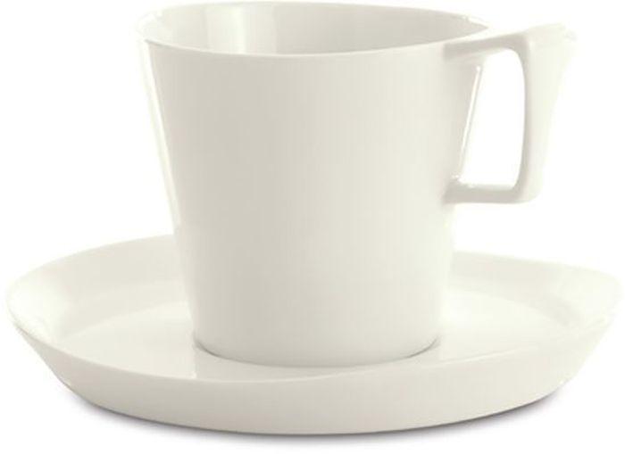 Набор для завтрака BergHOFF Eclipse, цвет: белый, 4 предмета. 37004343700434Набор для завтрака BergHOFF Eclipse - это стильное решение для оформления кухни и столовой.Изделия изготовлены из высококачественного витрофарфора белого цвета, устойчивого к царапинам от столовых приборов и сколов. Устойчив к окрашиванию от продуктов - легко очищается. Белый фарфор - это всегда нарядно и красиво. Прекрасно сочетается с другими цветами и фактурами в интерьере.Подходит для микроволновой печи и посудомоечной машины. В наборе на 2 персоны: 2 кружки для завтрака (400 мл), 2 блюдца (17,5 х 16,5 см) .