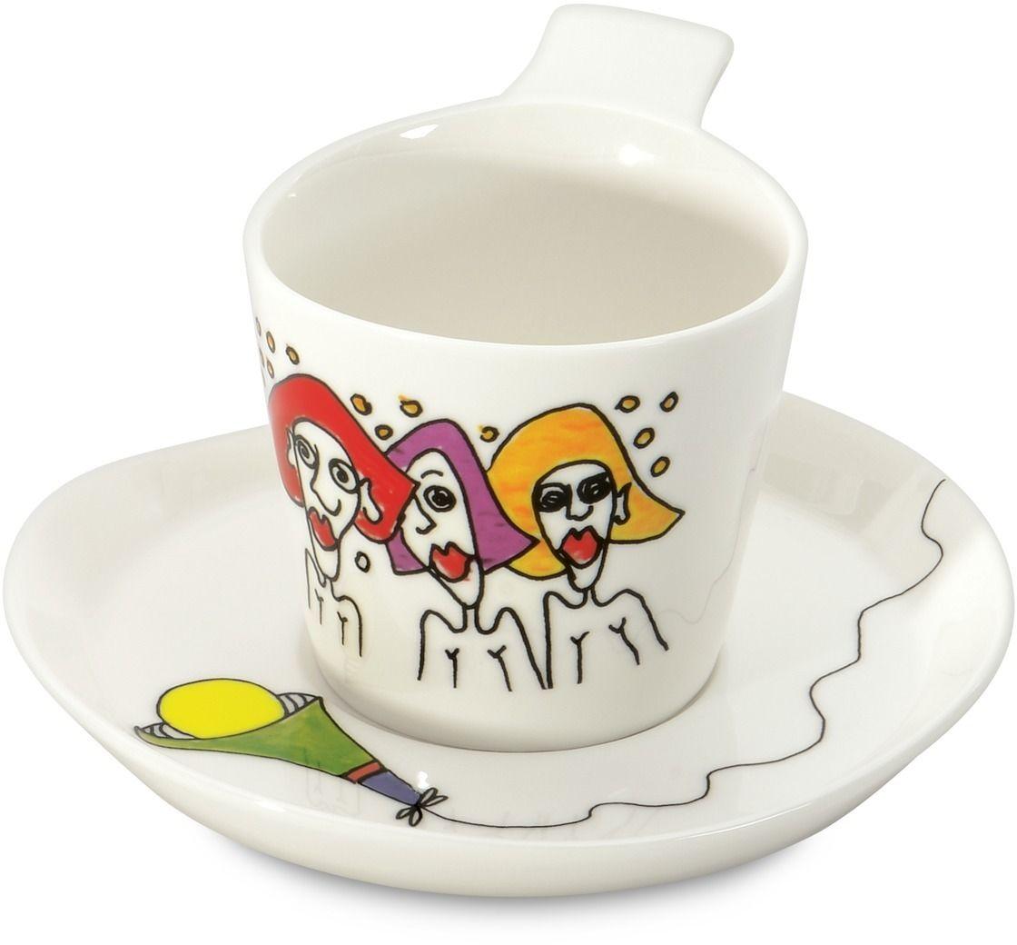 """Набор BergHOFF """"Eclipse"""" состоит из 2 кофейных чашек и 2 блюдец, выполненных из фарфора.  Такой набор станет отличным подарком самому любимому, близкому и дорогому  человеку.  Объем чашки - 180 мл."""