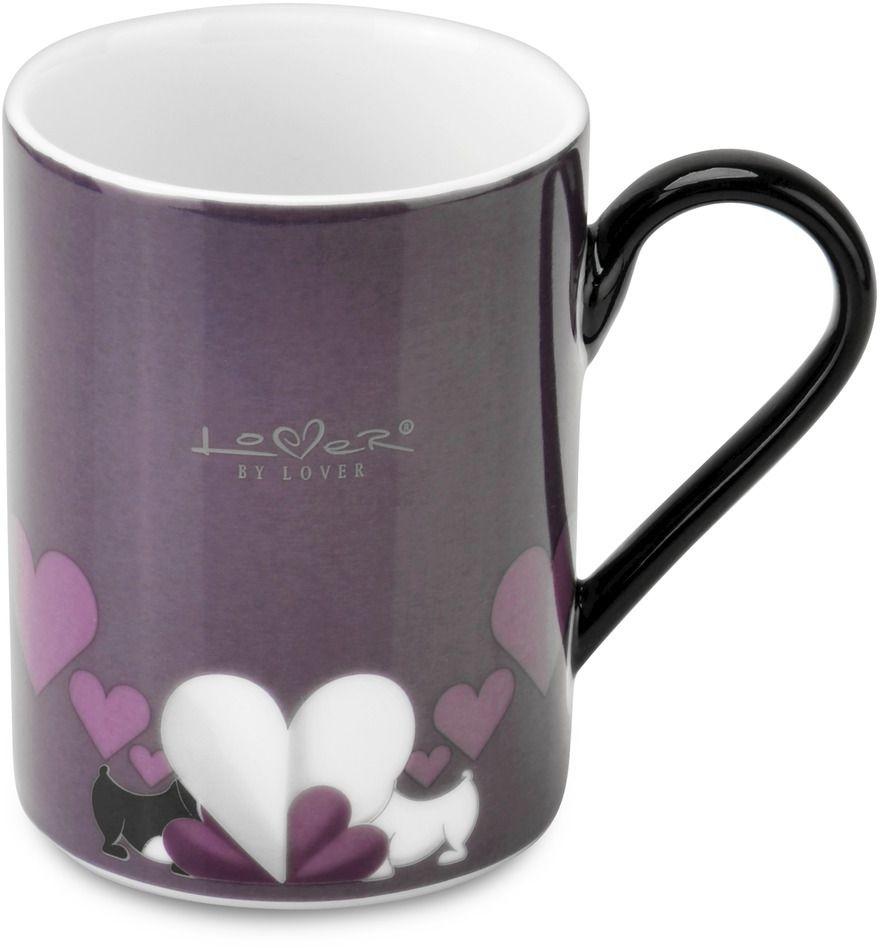 """Набор BergHOFF """"Lover by Lover"""" состоит из двух кружек с  ручками, выполненных из высококачественного фарфора.  Изделия можно мыть в посудомоечной машине.  Подходят для использования в микроволновой печи.  Диаметр кружки (по верхнему краю): 7,5 см.  Объем кружки: 300 мл. В комплекте: 2 кружки."""
