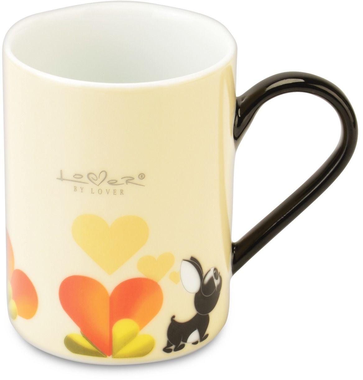 Набор кружек BergHOFF Lover by Lover, цвет: желтый, 300 мл, 2 шт3800012Набор BergHOFF Lover by Lover состоит из двух кружек с ручками, выполненных из высококачественного фарфора. Изделия можно мыть в посудомоечной машине. Подходят для использования в микроволновой печи. Диаметр кружки (по верхнему краю): 7,5 см. Объем кружки: 300 мл.В комплекте: 2 кружки.