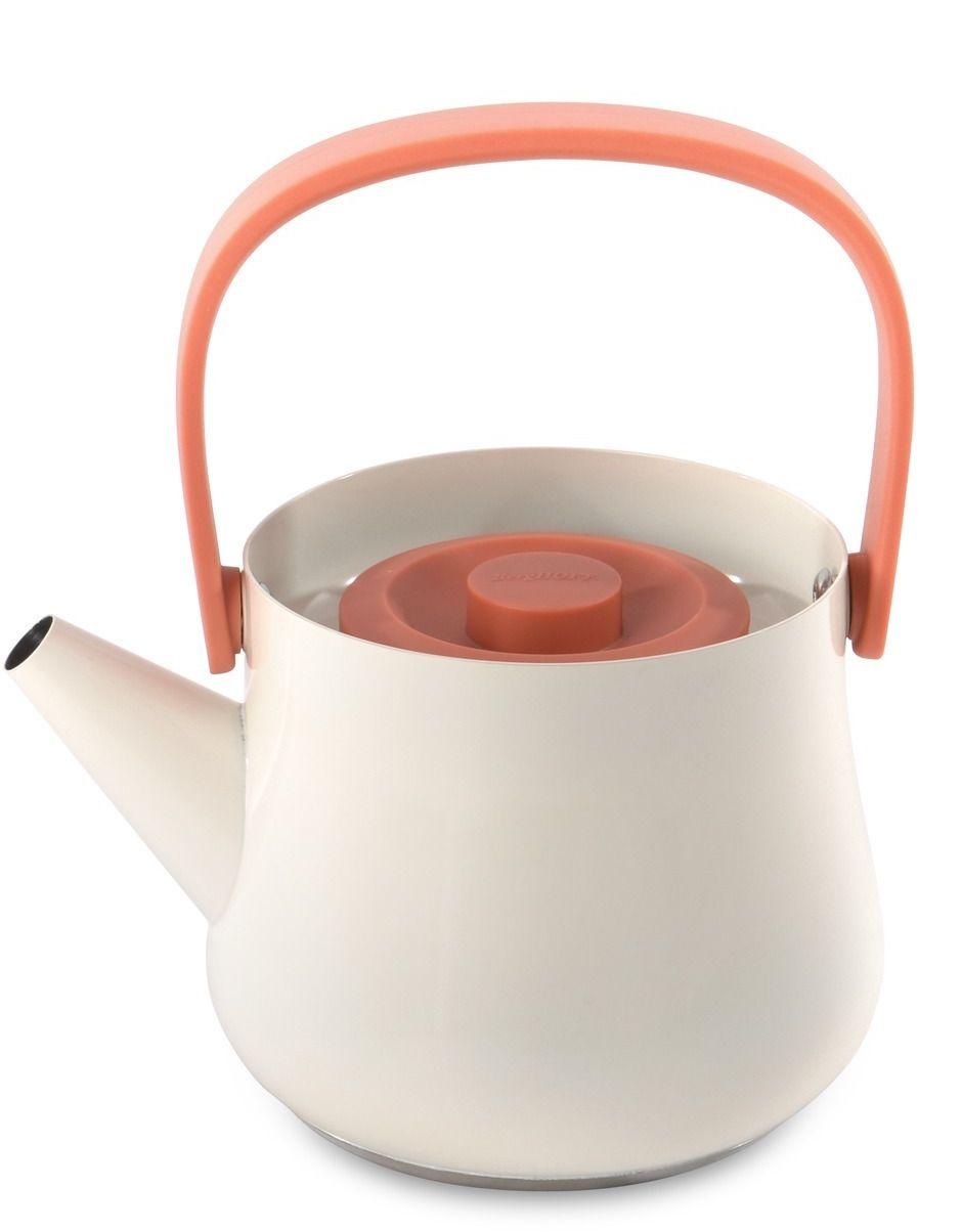 Чайник заварочный BergHOFF Ron, с ситечком, цвет: белый, 1 л упаковка фильтр пакеты чайные в екатеринбурге
