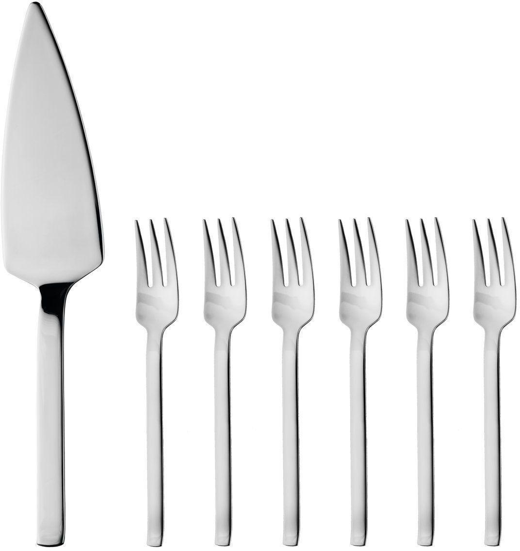 Набор столовых приборов для десерта BergHOFF, 7 предметов8500220Набор столовых приборов для десерта BergHOFF состоит из 6 вилок и лопатки. Изделия выполнены из стали. Такой набор наполнит вашу кухню уютом и вдохнет в нее новую жизнь.