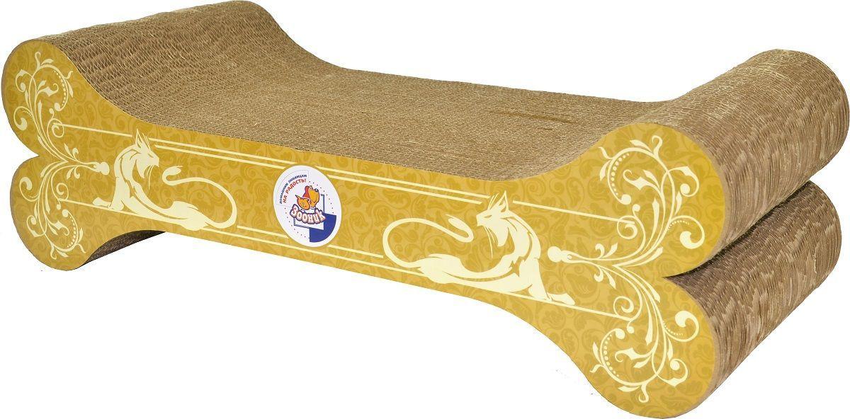 Когтеточка-лежанка Зооник  Косточка , 51 х 23 х 16 см - Когтеточки и игровые комплексы