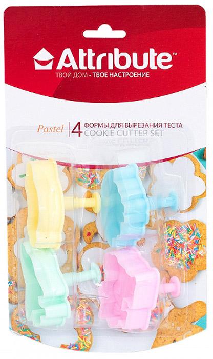 Набор форм для вырезания теста Attribute Pastel, 4 шт. ABP204ABP204Набор Attribute Pastel состоит из 4 форм для вырезания теста, выполненных из пластика. Формы можно использовать для создания печенья, сладких украшений, бутербродов, как трафарет для украшений из бумаги и других материалов.