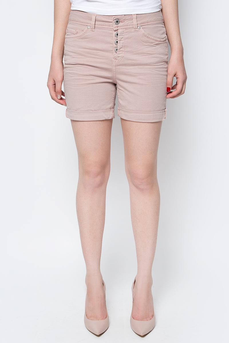 Шорты женские Tom Tailor Denim, цвет: бежево-розовый. 6405166.00.71_4741. Размер 26 (42) б житков морские истории