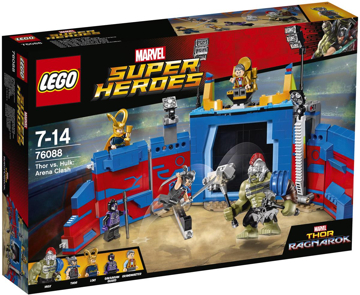 LEGO Super Heroes Конструктор Тор против Халка Бой на арене 76088 конструктор lego super heroes 76055 бэтмен убийца крок