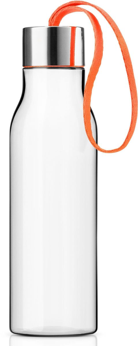 Бутылка для воды Eva Solo, цвет: оранжевый, 500 мл. 502993502993Бутылка Eva Solo - это очень удобная бутылка для воды, которую можно положить в сумку, взять с собой в офис или использовать на отдыхе. Она полностью герметична, ее можно наполнять снова и снова, и тем самым уменьшить количество пластиковых бутылок, тем самым помогая сохранить окружающую среду. Бутылка сделана из пластика, не содержащего BPA, то есть бисфенола, вредных примесей и тяжелых металлов.Бутылку можно мыть в посудомоечной машине, крышку - вручную.