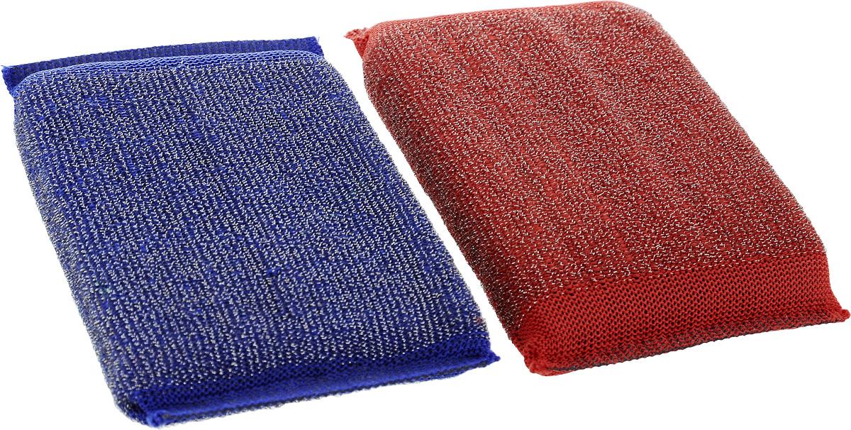 Набор губок Хозяюшка Мила Задира для мытья посуды, со стальной нитью, цвет: красный, синий, 2 шт1019_красный, синийДля изготовления верхнего чистящего слоя губки Задира используется ткань с металлизированной нитью, благодаря этому поверхность губки становится жесткой и подходит для удаления самых сильных загрязнений. Идеальна для очистки грилей, решеток, шампуров, барбекю.Размер губки: 12,5 х 8,5 х 2 см.Уважаемые клиенты!Обращаем ваше внимание на возможные изменения в дизайне упаковки. Качественные характеристики товара остаются неизменными. Поставка осуществляется в зависимости от наличия на складе.