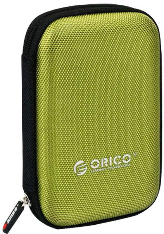 Orico PHD-25, Green чехол для жесткого дискаORICO PHD-25-GRЧехол для внешнего HDD Orico PHD-25 - это гарантия того, что жесткий диск будет предохранен от пагубного воздействия разнообразных внешних факторов (воздействия влаги, попадания пыли, трения о другие предметы и падений). Аксессуар способен вместить в себя жесткий диск форм-фактора 2.5 дюйма.Эргономичная конструкция корпуса чехла предусматривает наличие специального эластичного ремешка на одной из внутренних стенок. Он обеспечит максимально надежную фиксацию диска. С другой стороны находится сетчатый карман, в котором вам будет удобно хранить кабель для жесткого диска.