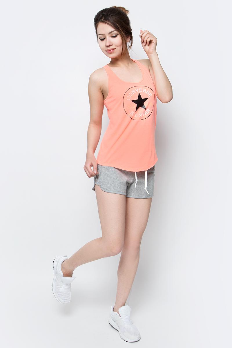 Шорты женские Converse Knitted short, цвет: серый. 10003986035. Размер S (44)10003986035Трикотажные шорты Converse изготовлены из натурального хлопка. Модель на завязках сбоку дополнена логотипом бренда.