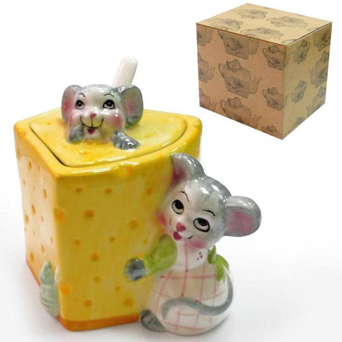 Сахарница Дом и все, что в нем Мыши с сыромD0901Оригинальная сахарница украсит ваш стол и станет замечательным подарком для друзей и близких.