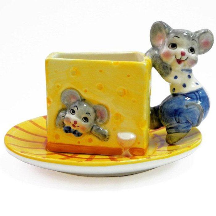 Набор чайный Дом и все, что в нем Мыши с сыром, 2 предметаDBD1185Оригинальная чашка с блюдцем станет приятным и неожиданным сюрпризом для родных и друзей.