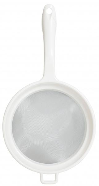 """Сито-дуршлаг Attribute """"Light"""" станет незаменимым аксессуаром  на вашей кухне. Дуршлаг-сито оснащен ручкой с отверстием для  подвешивания. Прочная стальная сетка и корпус обеспечивают  изделию износостойкость и долговечность."""