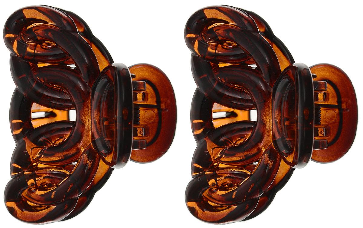 Заколка-краб Mitya Veselkov, цвет: коричневый 2 шт. KRAB4-GBLAKRAB4-GBLAОригинальная заколка-краб Mitya Veselkovизготовлена из качественного пластика. Удобный зажим заколки надежно фиксирует волосы и не травмирует их. С помощью заколки-краба можно создавать различные прически, для неповторимого образа.Оригинальность и удобство заколки-краба для волос делают ее практичным и модным аксессуаром.