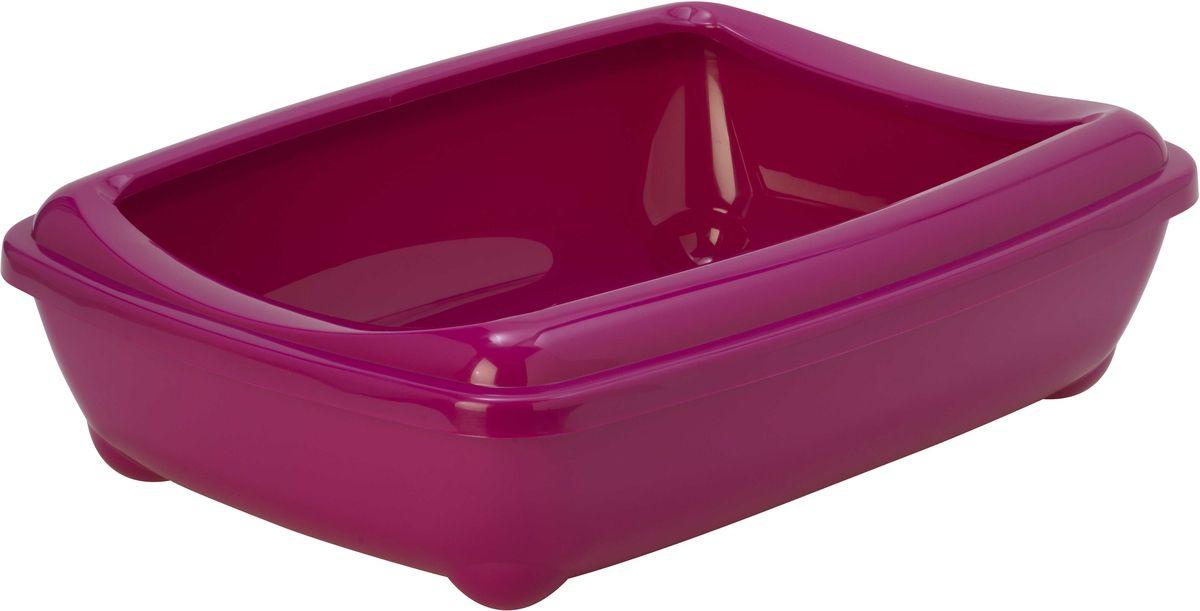 Туалет для кошек Moderna  Arist-O-Tray , открытый, цвет: ярко-розовый, 38 х 50 х 14 см - Наполнители и туалетные принадлежности