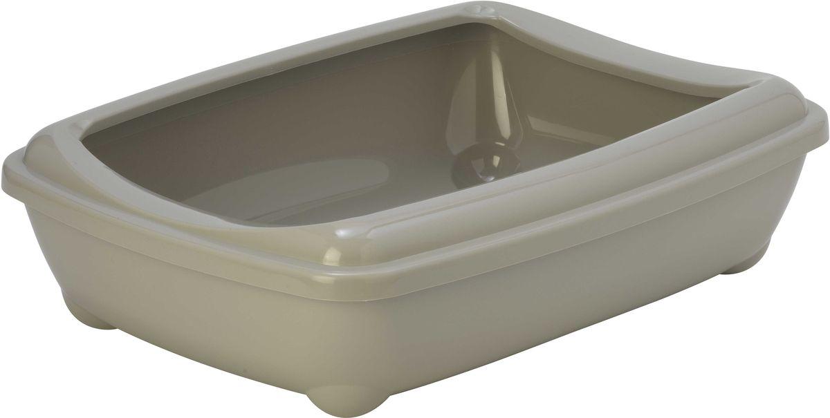 Туалет для кошек Moderna Arist-O-Tray, открытый, цвет: светло-серый, 38 х 50 х 14 см14C192330Туалет для кошек Moderna Arist-O-Tray изготовлен из высококачественного пластика. Высокий борт, прикрепленный по периметру лотка, удобно надевается и предотвращает разбрасывание наполнителя. Такой туалет не впитывает неприятные запахи и прекрасно отмывается.