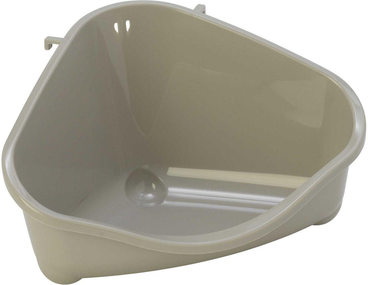 Место для грызуна Moderna, цвет: светло-серый, 18,3 х 12,7 х 9,6 см миска moderna smarty bowl с антискольжением цвет бордовый 19 х 7 см