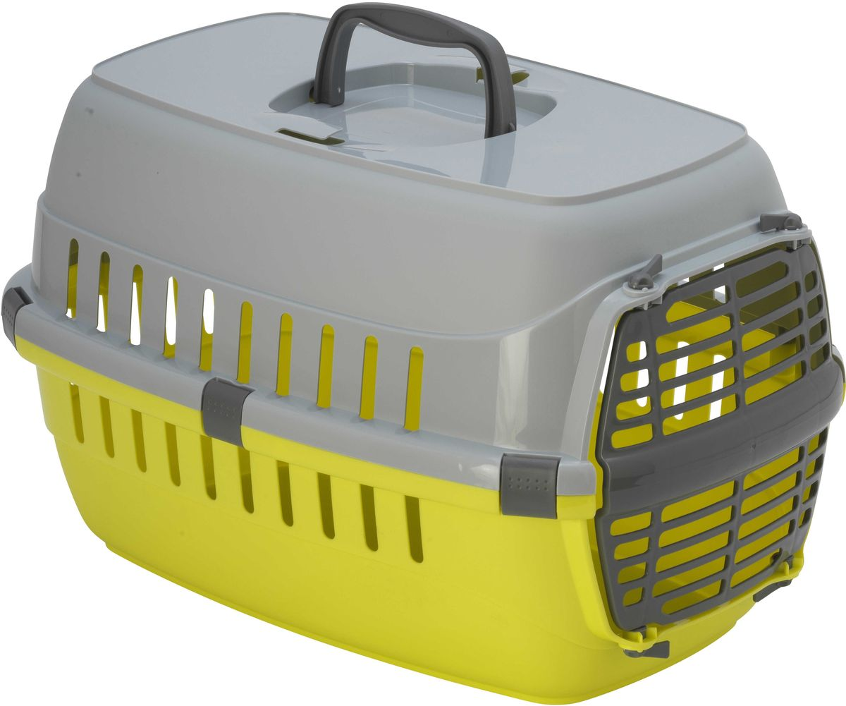 Переноска Moderna Roadrunner 1, с пластиковой дверью, цвет: лимон, 31 х 51 х 34 см roadrunner 506 gps отзывы