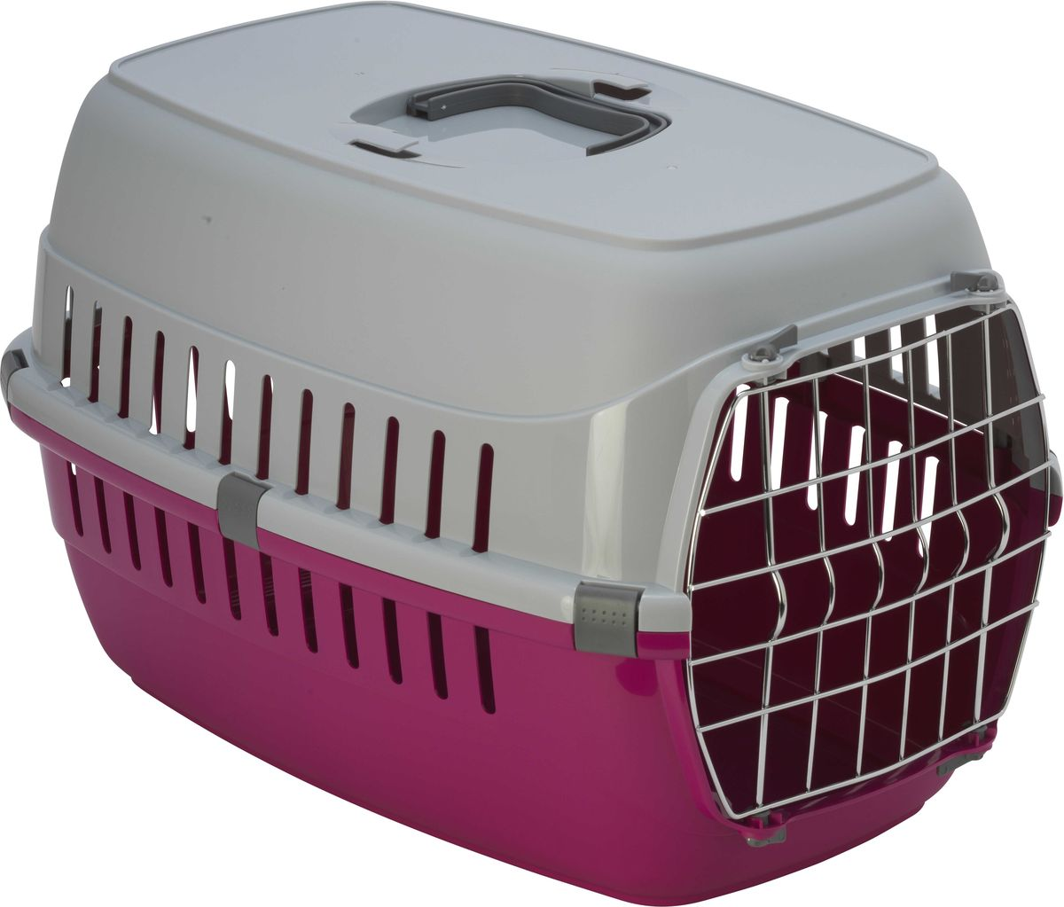 Переноска для животных Moderna  Roadrunner 1 , с металлической дверью, цвет: ярко-розовый, 31 х 51 х 34 см