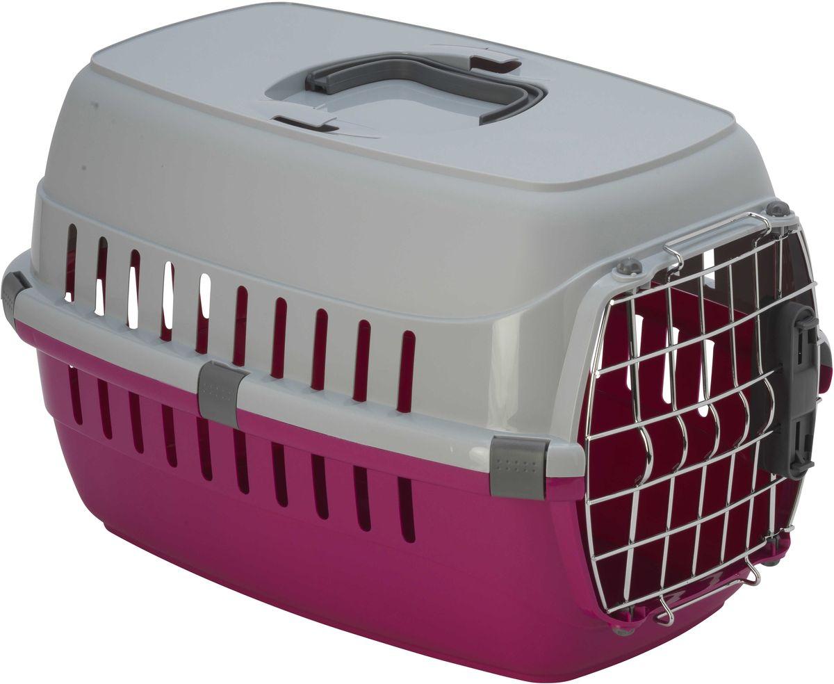 Переноска для животных Moderna  Roadrunner 1 , для авиаперевозок, замок IATA, цвет: ярко-розовый, 31 х 51 х 34 см