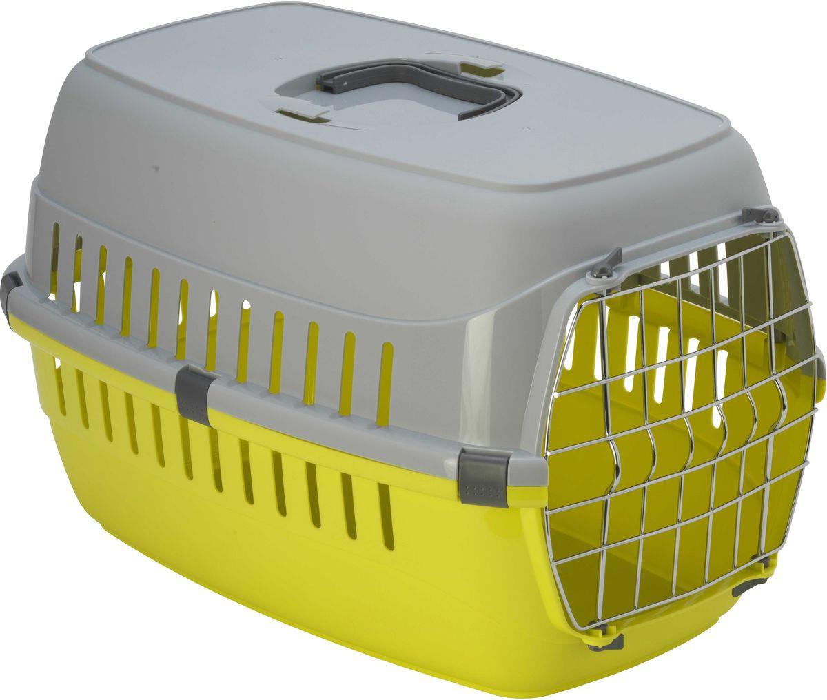 Переноска для животных Moderna  Roadrunner 2 , с металлической дверью, цвет: лимон, 35 х 58 х 37 см - Переноски, товары для транспортировки
