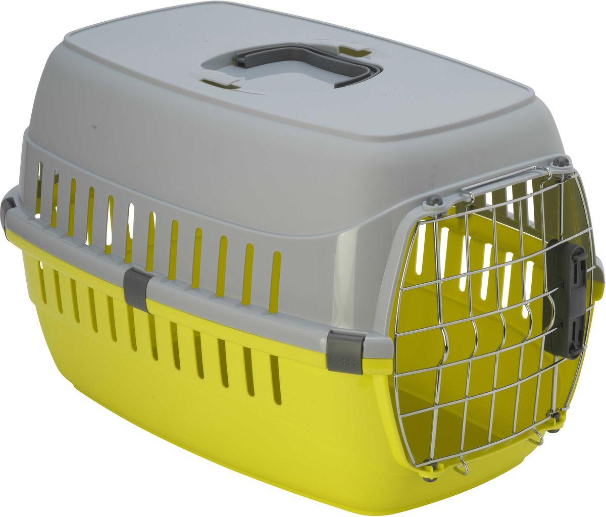 Переноска для авиаперевозок Moderna Roadrunner 2, цвет: лимон, 35 х 58 х 37 см переноска для животных moderna roadrunner 1 для авиаперевозок замок iata цвет ярко розовый 31 х 51 х 34 см