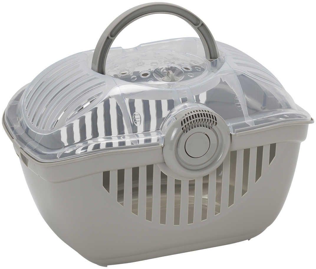 Переноска Moderna Top Runner, цвет: светло-серый, 39 х 29 х 25 см миска moderna smarty bowl с антискольжением цвет бордовый 19 х 7 см