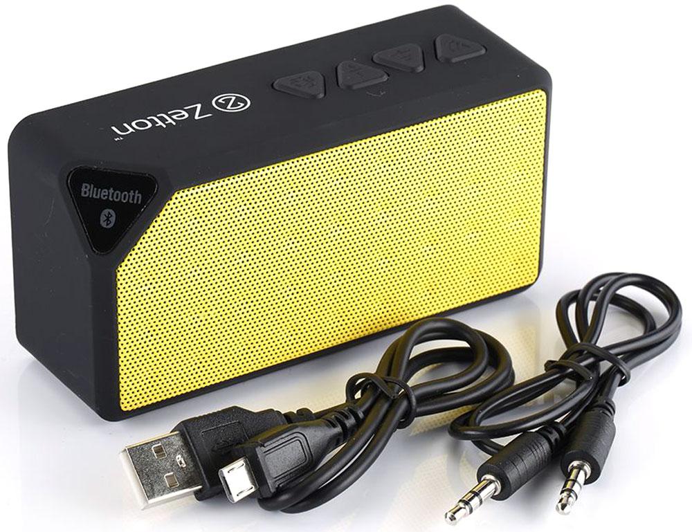 Zetton Parallelepiped, Black Yellow портативная Bluetooth-колонка (ZTLSBSPARBY)