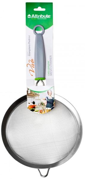 Сито-дуршлаг Attribute Viva. ATV514ATV514Сито-дуршлаг Attribute Viva, выполненное из нержавеющей стали, станет незаменимым аксессуаром на вашей кухне. Оно предназначено для просеивания и процеживания. Удобная ручка с пластиковой вставкой не позволит выскользнуть изделию из вашей руки. Ручка имеет отверстие, с помощью которого изделие можно подвесить в удобном для вас месте. Такое ситечко станет достойным дополнением к кухонному инвентарю.