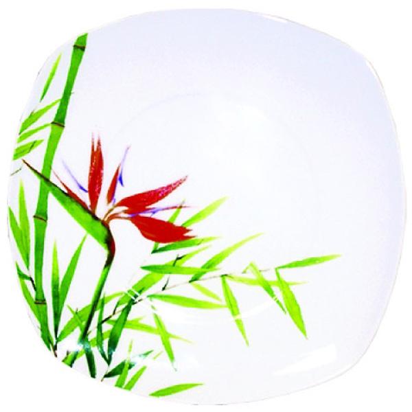 Тарелка десертная Domenik Bamboo, 19 смDM9022Посуда Domenik предназначена для ценителей домашнего уюта и душевных трапез. Изготовленная из качественного фарфора тарелка станет гармоничным дополнением сервировки и сделает приём пищи особенно приятным. Особенности: -нежно-белая поверхность с элегантным и стойким декором; -пригодность для СВЧ-печей; -простота мойки, в том числе в посудомоечных машинах; -стойкость к запахам. Красивая посуда - залог положительных впечатлений от застолья. Подарите себе и гостям удовольствие!