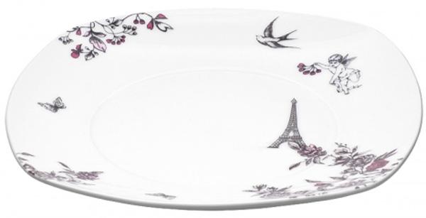 Тарелка десертная Domenik Souvenirs De Paris, 19 х 19 см салатник domenik souvenirs de paris диаметр 23 см