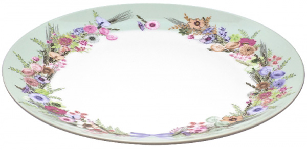 Тарелка обеденная Domenik Crown Of Flowers,диаметр 25 смDM9581Тарелка обеденная Domenik Crown Of Flowers выполнена из фарфора, с цветочным дизайном.Посуда Domenik отличается прочностью, гигиеничностью и долгим сроком службы. Такая тарелкапрекрасно подойдет как для повседневного использования, так и для праздников или особенныхслучаев.Тарелка обеденная Domenik Crown Of Flowers - великолепное дизайнерское решение для вашейкухни или столовой.