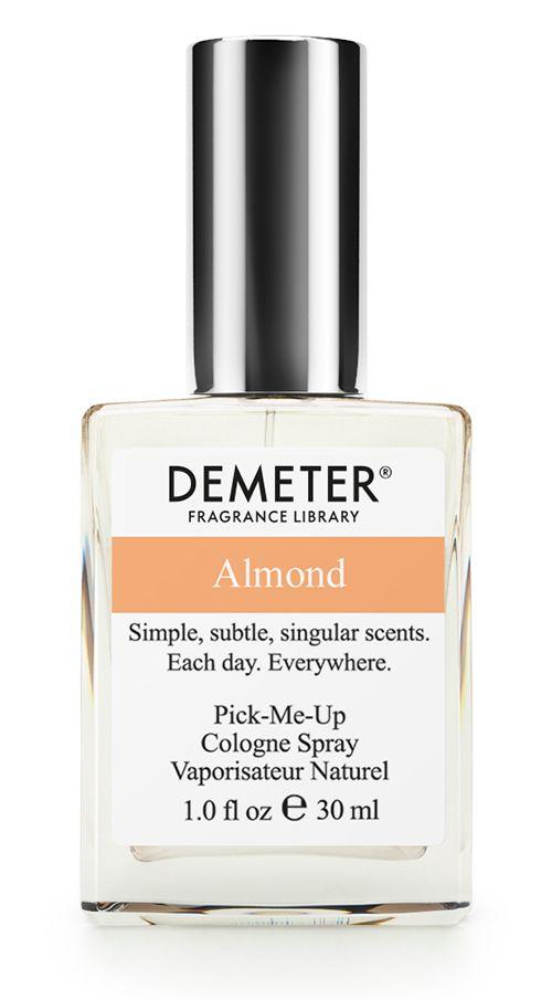 Demeter Fragrance Library Духи-спрей Миндаль (Almond), женские, 30 млDM01937Многие думают, что миндаль — это орех. На самом деле (и так написано в книгах) миндаль — это косточковый плод. То есть внутри плода есть косточка. И все можно есть. Almond от Demeter еще более оригинален: снаружи — стеклянный флакон, а внутри целых 30 мл настоящего миндаля! И, конечно, никаких косточек.Духи считаются самым изысканным видом парфюмерной продукции и содержат самый большой процент ароматической композиции (от 15% до 30% и более), растворенной в очень чистом спирте (96% об.). Высокое содержание экстракта обеспечивает духам большую стойкость и силу по сравнению с другими видами парфюмерных товаров. Всего лишь пары капель достаточно для того, чтобы запах держался в течение 5 и более часов. Товар сертифицирован.