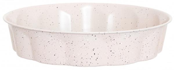 """Круглая форма для запекания Attribute """"Stone. Волна"""" изготовлена из высокоуглеродистой стали с антипригарным покрытием, которое обеспечивает защиту от пригорания, делает приготовление пищи более удобным, позволяет с легкостью достать выпечку и очистить посуду. Изделие прекрасно подойдет для запекания любых продуктов."""