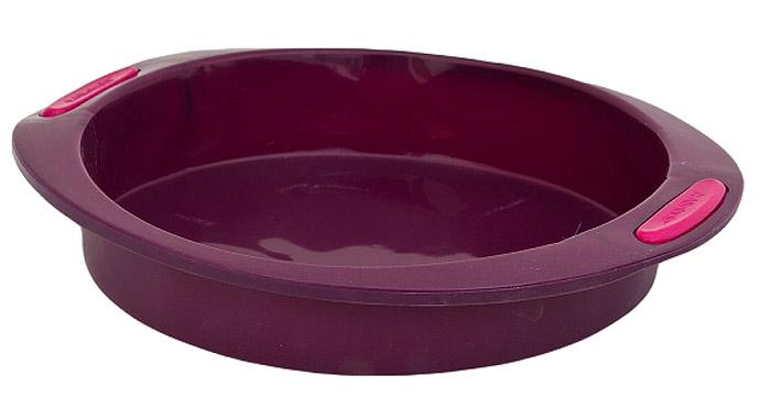 """Форма для выпечки Attribute """"Круг"""" выполнена из высококачественного 100% пищевого силикона. Идеально подходит для   приготовления выпечки, десертов и холодных закусок.  Форма обладает естественными антипригарными свойствами и не выделяет вредных веществ при высоких температурах.  Такая форма для выпечки займет достойное место на вашей кухне.   Диаметр (по верхнему краю): 24 см.     Как выбрать форму для выпечки – статья на OZON Гид."""